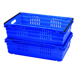 Dual height plastic crate